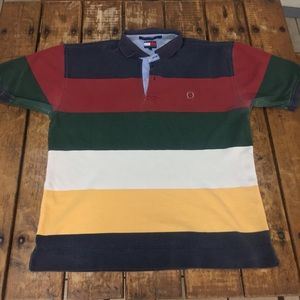 Vintage Tommy Hilfiger Colorblock Polo/ XL